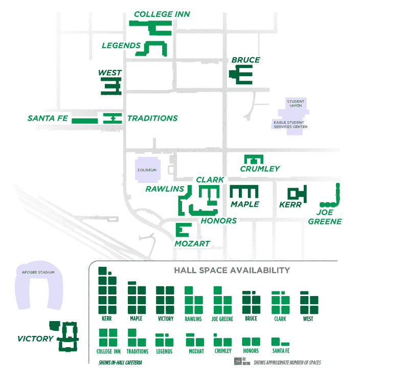 Map of Residence Halls