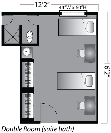 double with suite bath